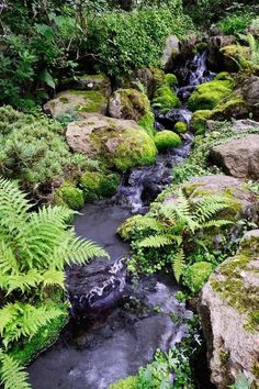 Most recent Cost-Free japanese garden waterfall Style Japan gardens will be traditional backyards that make little idealized countryside, often in a very fuzy and s. Backyard Stream, Garden Stream, Backyard Water Feature, Ponds Backyard, Water Garden, Garden Pond, Koi Ponds, Garden Plants, Natural Pond