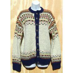 Label: Handknitted in Norway Norwegian Knitting, Fair Isle Pattern, North Sea, Wool Cardigan, Yarns, Norway, Hand Knitting, Vests, Weave