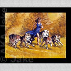 Jake Beckman's Running with Wolves reminds me of freedom on a sunny day! #art #akajake.com