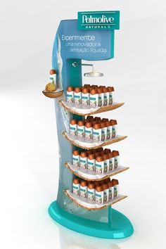 Palmolive Retail by Daniela Olivares, via Behance Shop Display Stands, Pos Display, Display Design, Display Shelves, Product Display, Pos Design, Stand Design, Point Of Sale, Point Of Purchase