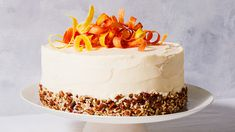 The best parts of a carrot cake are combined with the favorite flavors of hummingbird cake like pureed pineapple, coconut, and pecans, in this delicious hybrid cake. Round Cake Pans, Round Cakes, Candied Carrots, Bon Ap, Coconut Frosting, Cupcake Cakes, Cupcakes, Smitten Kitchen, Sweets