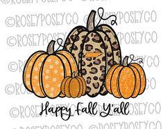 Pumpkin Png, Fall Clip Art, Fall Wallpaper, Happy Fall Y'all, Painted Pumpkins, Fall Diy, Vinyl Projects, Fall Pumpkins, Cute Stickers