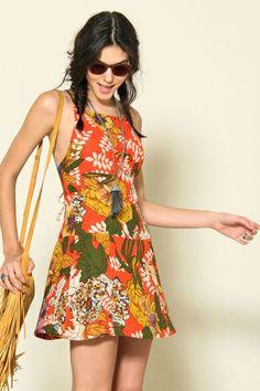 Farm - vestido alcinha poliana max