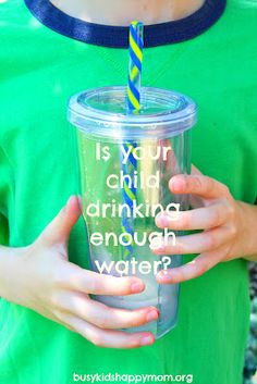 Kids and Drinking H2O - Are they Getting Enough?  Click here for a simple quiz to find out!