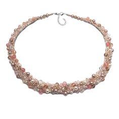 SHINE   Colier statement elegant Swarovski, Floral Necklace, Handmade Jewelry, Necklaces, Elegant, Diamond, Fashion, Bead, Classy