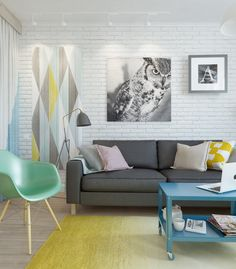 Отличная маленькая квартира, оборудованная в скандинавском стиле и имеющая женскую душу