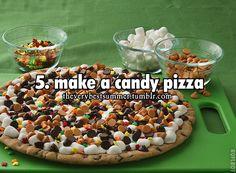 #5. make a candy pizza-summer list-kids will enjoy :)