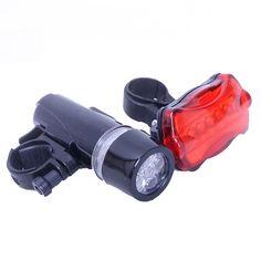 Fahrrad Licht Led Fahrrad Frontleuchte Radfahren Taschenlampe Fahrrad Zubehör Fahrrad Frontleuchte + Hinten Sicherheits-taschenlampe + Halterung