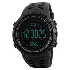 Aposon Men's Digital Electronic Waterproof LED Sport Watch