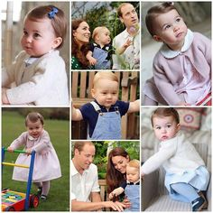 George's & Charlotte's official first birthday photographs