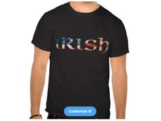 Irish with USA flag, style is Basic Dark T-Shirt, color is black, many more colors and styles available. Irish Design, Usa Flag, Dark, Colors, Mens Tops, T Shirt, Style, Fashion, Supreme T Shirt