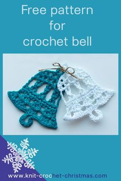 Crochet bell pattern. Download the free written pattern with crochet chart.