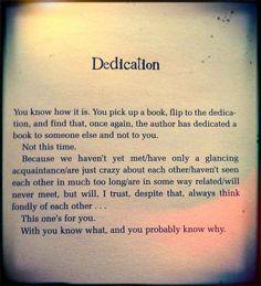 dedication page template