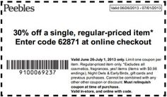 Get 30 percent off a single regular priced item with these discount coupons. Offer ends July
