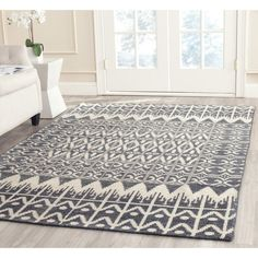 Safavieh Hand-knotted Kenya Charcoal Wool Rug (8' x 10')   Overstock.com Shopping - The Best Deals on 7x9 - 10x14 Rugs