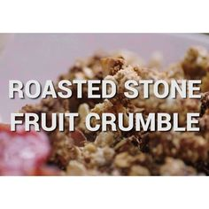 A little treat for you from my Super Food Family Classics book! Plus it's super high in fibre with the oats and dates. I'm making the stone fruit crumble Friday night on Jamie's Super Food, @channel4 at 8pm! Tune in! JO xx
