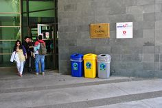 Instalación de Basureros de Reciclaje en el Campus Lircay.  -Kiosco Rojo  -Cafetería Establo  -Casino  -Cafetería FACE  -Kiosco Saludable