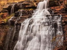 Fall colors emerge near the water at Brandywine Falls at Cuyahoga Valley National Park in Ohio. David Lockard, Your Take Brandywine Falls, County Seat, You Take, Fall Photos, Beautiful Places, Beautiful Scenery, Places Ive Been, National Parks, Waterfalls