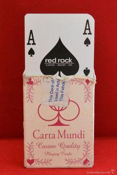 BARAJA CARTAS POKER DEL CASINO RED ROCK LAS VEGAS U.S.A