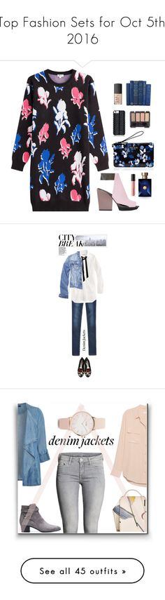 """""""Top Fashion Sets for Oct 5th, 2016"""" by polyvore ❤ liked on Polyvore featuring Kenzo, 3.1 Phillip Lim, Kate Spade, Savannah Hayes, Versace, Bare Escentuals, NARS Cosmetics, WALL, Halogen and Alexander McQueen"""