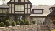10 Color Scheme Ideas For Your House Exterior!: Color For This Tudor Style House Is All About the Browns