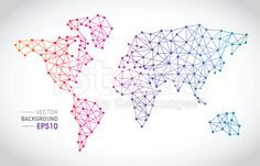 Communication lines with World Map Concept royalty-free stock vector art