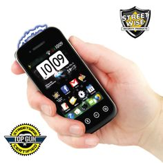 """This might just be the most realistic cell phone stun gun on the market today! Most other models are big and bulky and look like phones that were popular 10 years ago. TheSamStun 6,000,000 looks just like a modern day smart phone.  Although it is not a real cell phone, you will be making the right call with the SamStun. At the first sign of danger just get out your """"SamStun"""" and pretend to make a call."""