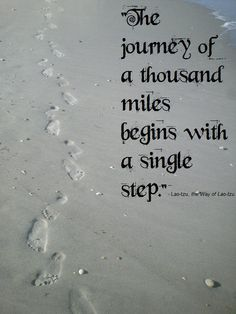 Take the journey one step at a time, but do take it. It's worth it in the end.