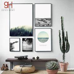 Nordic Canvas Art Print Poster Pintura Del Paisaje, Impresión Giclee Pared Cuadros Para la Decoración Del Hogar, Decoración de la pared BW005