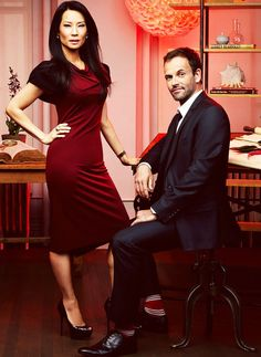 Lucy Liu and Jonny Lee Miller on Elementary  I love this show, I also Like Dr Watson & Sherlock, they complete each other.