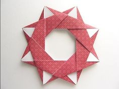 FRAME Origami Modular Star Wreath http://www.youtube.com/watch?v=_7E2nUcrsPY&feature=youtu.be