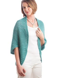 Cozy Shrug Crochet Pattern download from Annie's Craft Store. Order here: https://www.anniescatalog.com/detail.html?prod_id=131364&cat_id=468
