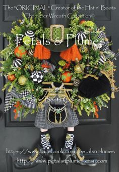 "St Patricks Day Wreath- ""The Irish MAD HATTER"" by Petals & Plumes  https://www.facebook.com/petalsnplumes"