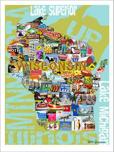 Hey, I found this really awesome Etsy listing at https://www.etsy.com/listing/154080821/state-of-wisconsin-collage