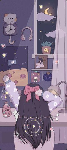 Cute Galaxy Wallpaper, Cute Panda Wallpaper, Purple Wallpaper Iphone, Cute Pastel Wallpaper, Soft Wallpaper, Cute Patterns Wallpaper, Bear Wallpaper, Kawaii Wallpaper, Anime Backgrounds Wallpapers