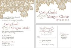 Lace wedding invitations personalized wedding by HAPPYEVERAFTER54, $1.60