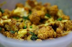 Cracklin' Cauliflower - Whole Foods Style.  One of my favorite recipes that I've made over and over again.