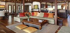 bali style - Interior design of a tropical living room