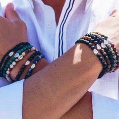 Bracciale uomo argento e pietre dure €32 #manlioboutique Spedizione gratuita Info: WhatsApp 329.0010906 #bracelet #man #accessories