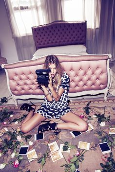MISSGUIDED - AW14: NEW CAN PLAY THAT GAME #model #60s #jaquard #graphic #floral #boudoir #fashion #coords #joannahalpin #graphic #monochrome #polaroid