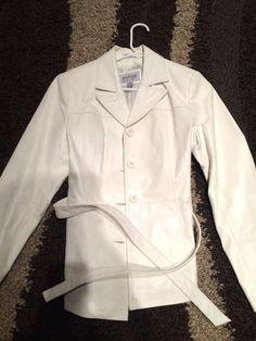 Wilsons Leather Jacket White Small    eBay