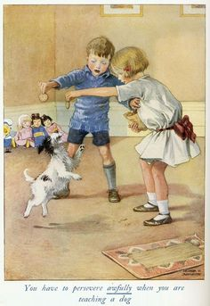Honor Charlotte Appleton (1879 - 1951)  You have to persevere awfully when you are teaching a dog.