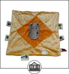 Doudou plat HIPPOPOTAME gris orange - INFLUX Cora  ✿ Regalos para recién nacidos - Bebes ✿ ▬► Ver oferta: http://comprar.io/goto/B01BH5GBG8