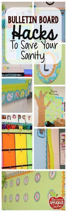 Bulletin board hacks to save your sanity. Time saving, money saving, and energy saving ideas!