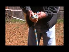 How to make a simple rope halter.