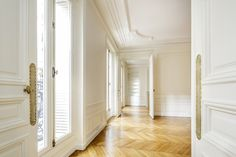 In a Haussmann building in #Paris 17th district, renovated apartment with hardwood floors, moldings and fireplaces.