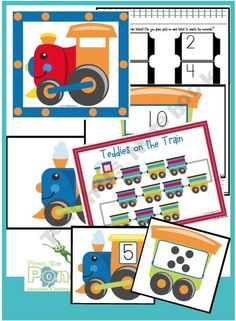 Number Train Packet - Numbers to Ten
