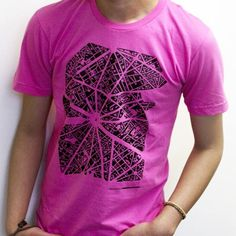 awesome map figure/ground t-shirts