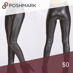 """•faux leather legging• These faux leather leggings are a perfect fit! They have a smooth matte finish and trust me when I say you will be surprised at how much s•t•r•e•t•c•h these babies have! Super comfortable and not too tight. Inseam measures approx 30"""". Material is polyester/spandex.  •bundle discount on 3 or more• Pants Leggings"""