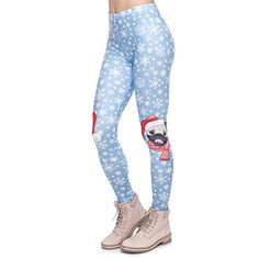 bb8ffff31eb81 Women's Christmas Series Leggings Pug On Knees Printing Fitness Leggings  High,#Series, #